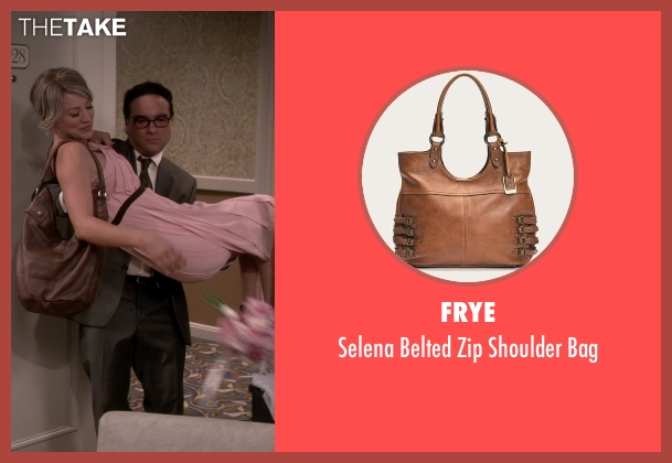 Frye brown bag from The Big Bang Theory seen with Penny (Kaley Cuoco-Sweeting)