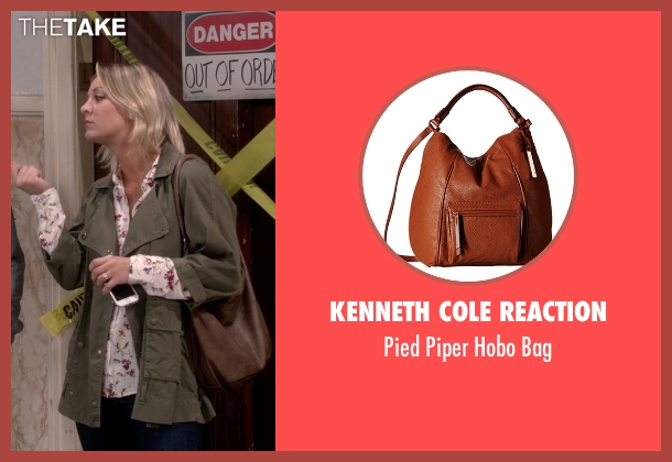 Kenneth Cole Reaction brown bag from The Big Bang Theory seen with Penny (Kaley Cuoco-Sweeting)
