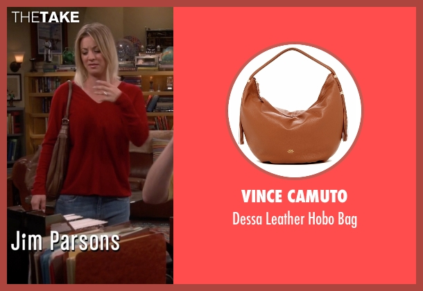 Vince Camuto brown bag from The Big Bang Theory seen with Penny (Kaley Cuoco-Sweeting)