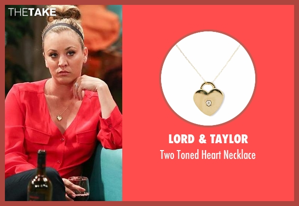 Lord & Taylor gold necklace from The Big Bang Theory seen with Penny (Kaley Cuoco-Sweeting)