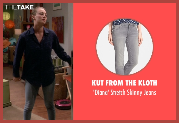 Kut from the Kloth gray jeans from The Big Bang Theory seen with Penny (Kaley Cuoco-Sweeting)