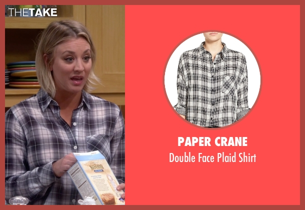 Paper Crane gray shirt from The Big Bang Theory seen with Penny (Kaley Cuoco-Sweeting)