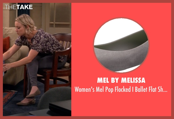 Mel By Melissa gray shoes from The Big Bang Theory seen with Penny (Kaley Cuoco-Sweeting)