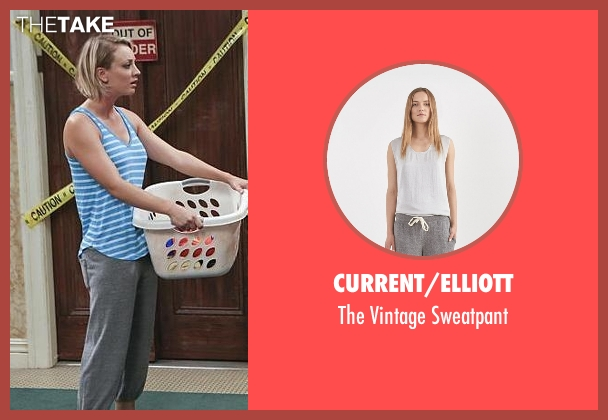 Current/Elliott gray sweatpant from The Big Bang Theory seen with Penny (Kaley Cuoco-Sweeting)
