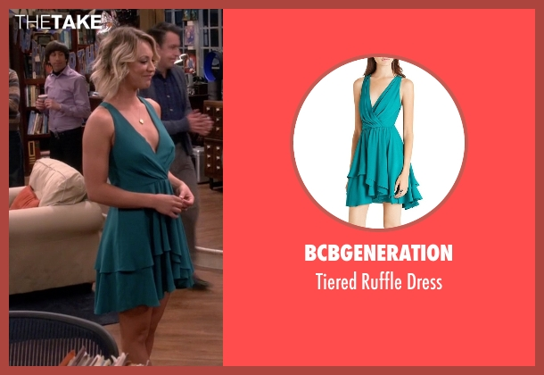 BCBGeneration green dress from The Big Bang Theory seen with Penny (Kaley Cuoco-Sweeting)