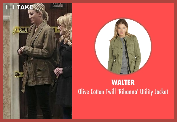 Walter green jacket from The Big Bang Theory seen with Penny (Kaley Cuoco-Sweeting)