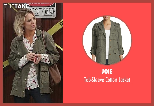 Joie green jacket from The Big Bang Theory seen with Penny (Kaley Cuoco-Sweeting)