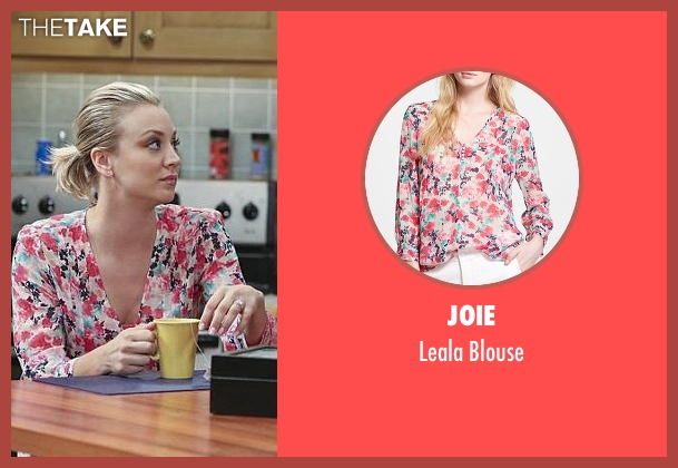 Joie pink blouse from The Big Bang Theory seen with Penny (Kaley Cuoco-Sweeting)