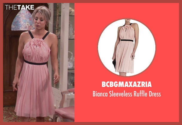 BCBGMAXAZRIA pink dress from The Big Bang Theory seen with Penny (Kaley Cuoco-Sweeting)
