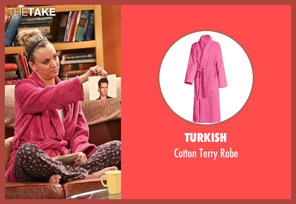 Turkish pink robe from The Big Bang Theory seen with Penny (Kaley Cuoco-Sweeting)