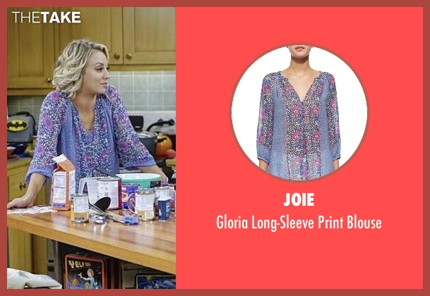 Joie purple blouse from The Big Bang Theory seen with Penny (Kaley Cuoco-Sweeting)
