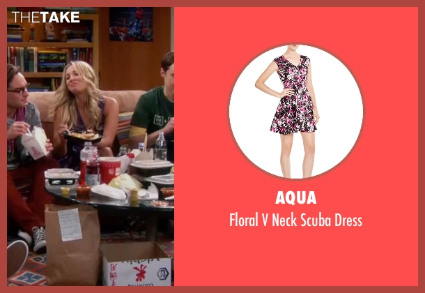 AQUA purple dress from The Big Bang Theory seen with Penny (Kaley Cuoco-Sweeting)