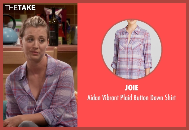 Joie purple shirt from The Big Bang Theory seen with Penny (Kaley Cuoco-Sweeting)