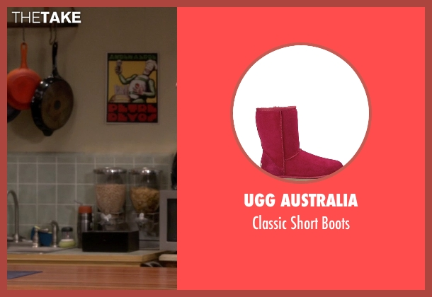 UGG Australia red boots from The Big Bang Theory seen with Penny (Kaley Cuoco-Sweeting)