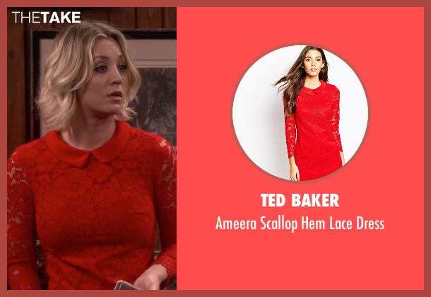 Ted Baker  red dress from The Big Bang Theory seen with Penny (Kaley Cuoco-Sweeting)