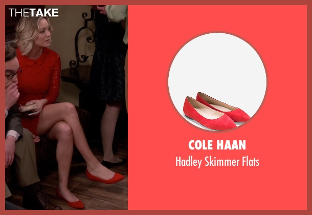 Cole Haan red flats from The Big Bang Theory seen with Penny (Kaley Cuoco-Sweeting)