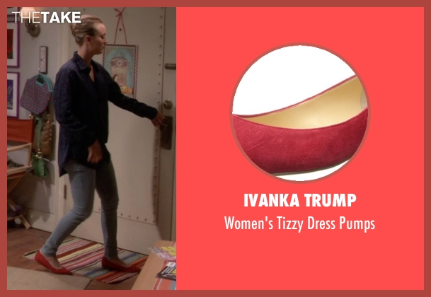 Ivanka Trump red pumps from The Big Bang Theory seen with Penny (Kaley Cuoco-Sweeting)