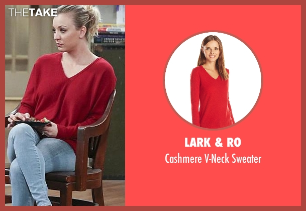 Lark & Ro red sweater from The Big Bang Theory seen with Penny (Kaley Cuoco-Sweeting)