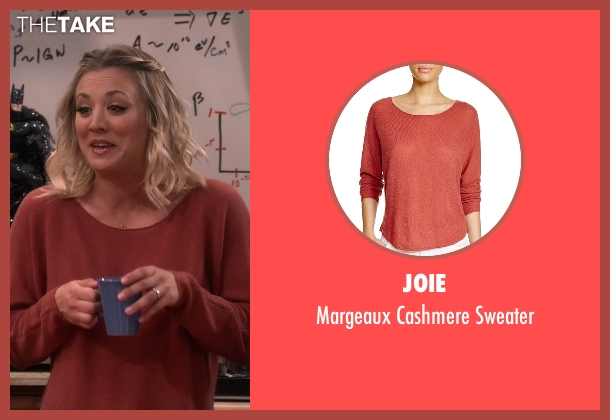 Joie red sweater from The Big Bang Theory seen with Penny (Kaley Cuoco-Sweeting)