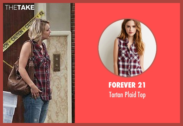 Forever 21 red top from The Big Bang Theory seen with Penny (Kaley Cuoco-Sweeting)
