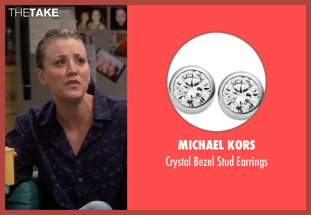Michael Kors silver earrings from The Big Bang Theory seen with Penny (Kaley Cuoco-Sweeting)