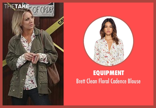 Equipment white blouse from The Big Bang Theory seen with Penny (Kaley Cuoco-Sweeting)