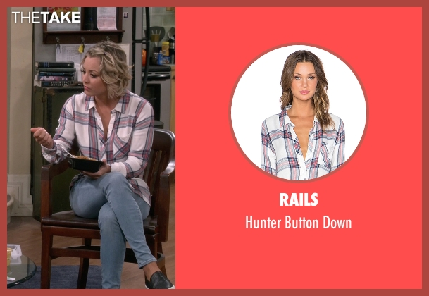 Rails white down from The Big Bang Theory seen with Penny (Kaley Cuoco-Sweeting)