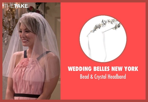 Wedding Belles New York white headband from The Big Bang Theory seen with Penny (Kaley Cuoco-Sweeting)