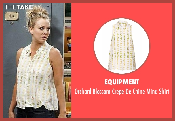 Equipment white shirt from The Big Bang Theory seen with Penny (Kaley Cuoco-Sweeting)
