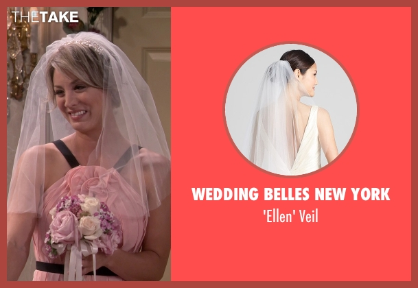 Wedding Belles New York white veil from The Big Bang Theory seen with Penny (Kaley Cuoco-Sweeting)