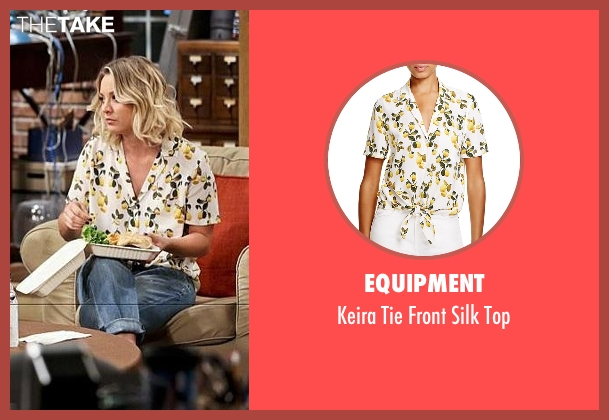Equipment yellow top from The Big Bang Theory seen with Penny (Kaley Cuoco-Sweeting)