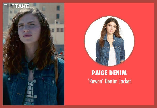 Paige Denim blue jacket from Steve Jobs seen with Perla Haney-Jardine (Lisa Jobs)