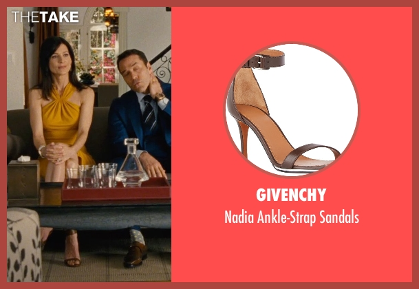 Givenchy brown sandals from Entourage seen with Perrey Reeves (Melissa Gold)