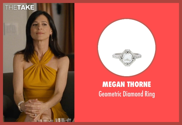 Megan Thorne silver ring from Entourage seen with Perrey Reeves (Melissa Gold)