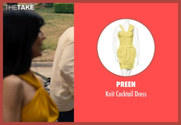 Preen yellow dress from Entourage seen with Perrey Reeves (Melissa Gold)