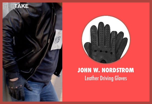 John W. Nordstrom black gloves from Scream Queens seen with Pete Martinez (Diego Boneta)