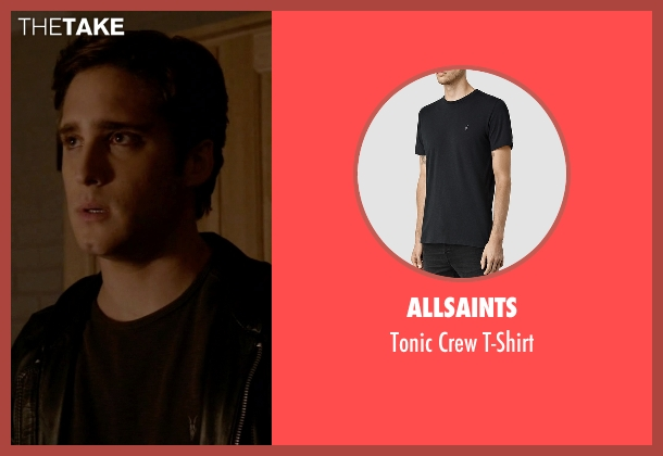 AllSaints black t-shirt from Scream Queens seen with Pete Martinez (Diego Boneta)