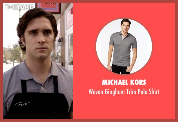 Michael Kors gray shirt from Scream Queens seen with Pete Martinez (Diego Boneta)