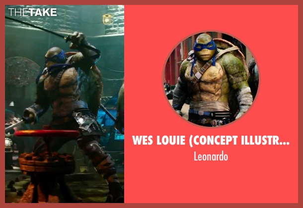 Wes Louie (Concept Illustrator) leonardo from Teenage Mutant Ninja Turtles: Out of the Shadows seen with Pete Ploszek (Leonardo)