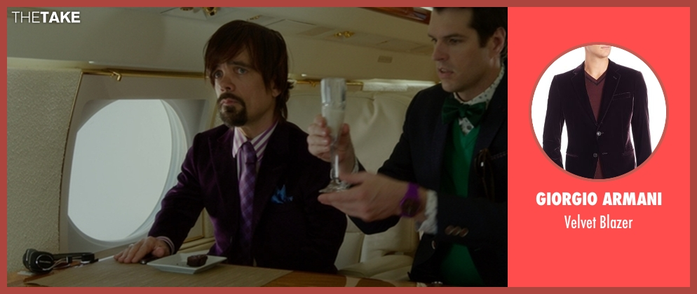 Giorgio Armani blazer from The Boss seen with Peter Dinklage (Renault)