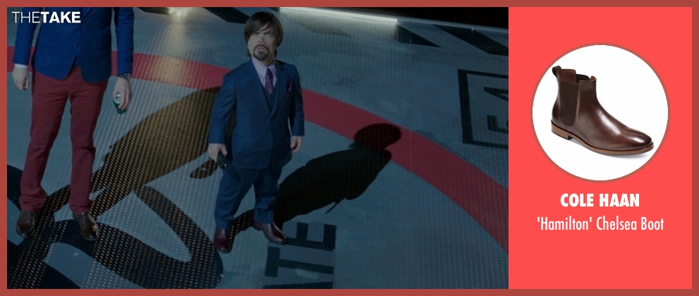 Cole Haan boot from The Boss seen with Peter Dinklage (Renault)
