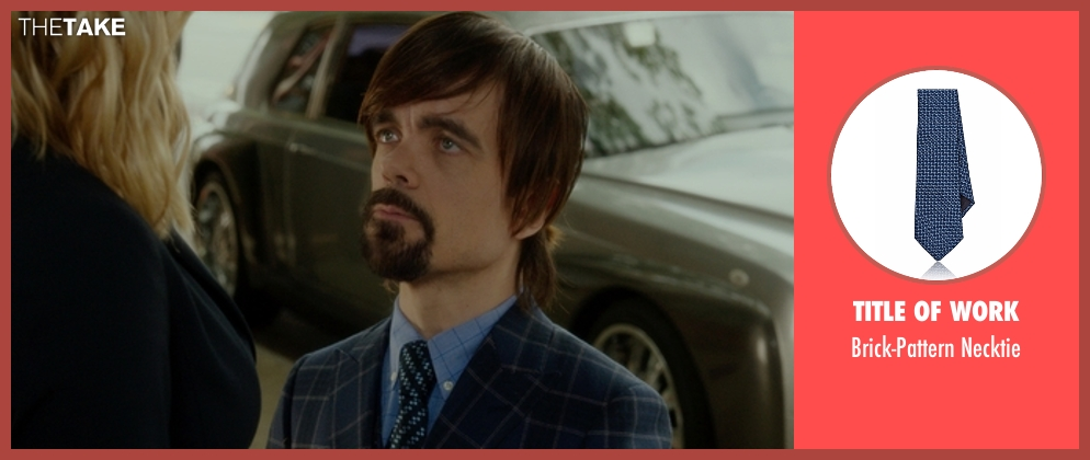 Title of Work necktie from The Boss seen with Peter Dinklage (Renault)