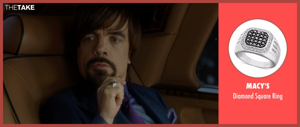 Macy's ring from The Boss seen with Peter Dinklage (Renault)