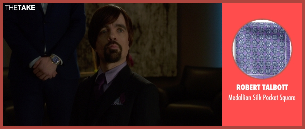 Robert Talbott square from The Boss seen with Peter Dinklage (Renault)