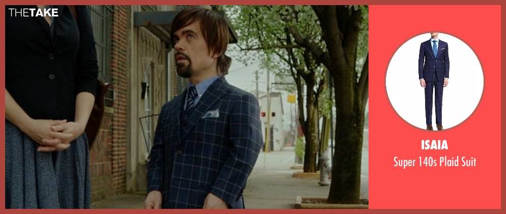 Isaia suit from The Boss seen with Peter Dinklage (Renault)