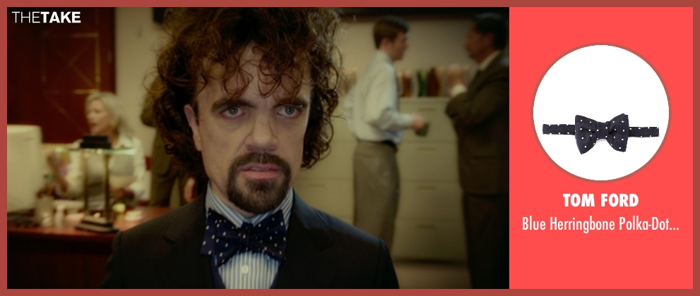 Tom Ford tie from The Boss seen with Peter Dinklage (Renault)