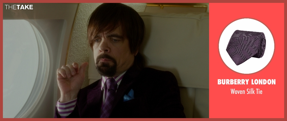 Burberry London tie from The Boss seen with Peter Dinklage (Renault)