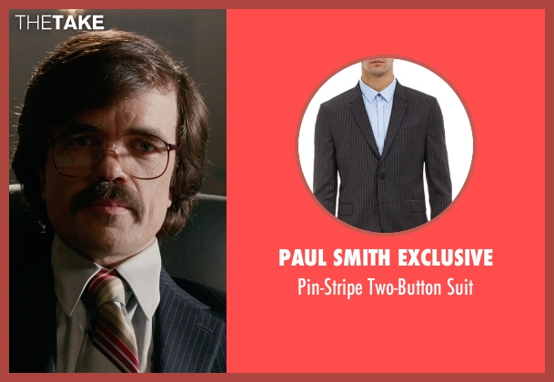 Paul Smith Exclusive black suit from X-Men: Days of Future Past seen with Peter Dinklage (Bolivar Trask)
