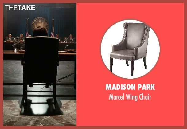 Madison Park chair from X-Men: Days of Future Past seen with Peter Dinklage (Bolivar Trask)