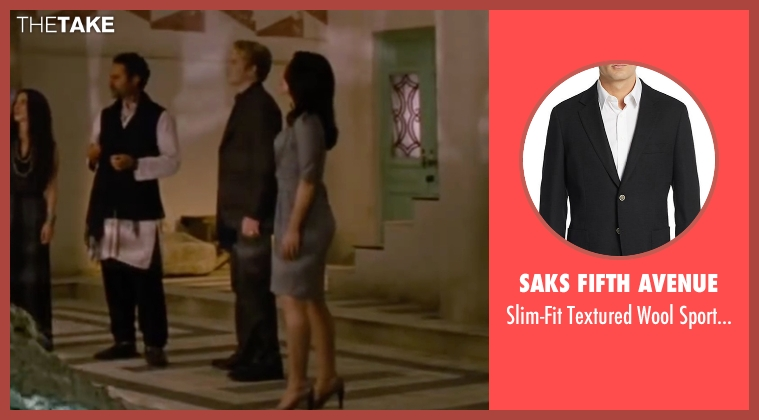 Saks Fifth Avenue black coat from The Twilight Saga: Breaking Dawn - Part 2 seen with Peter Facinelli (Dr. Carlisle Cullen)